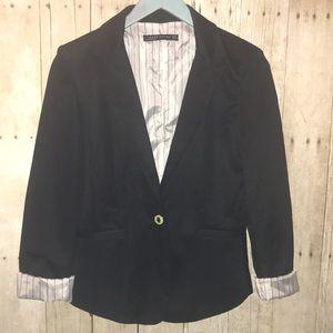 Zara Black Buttoned Blazer